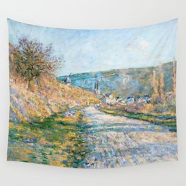 """Claude Monet """"The Road to Vétheuil"""" (1879) Wall Tapestry"""