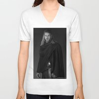 thor V-neck T-shirts featuring Thor by E Cairns Art