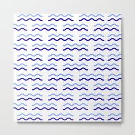 Water blue wave background #society6 #decor #buyart #artprint Metal Print