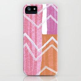 Painted Zig-Zag iPhone Case