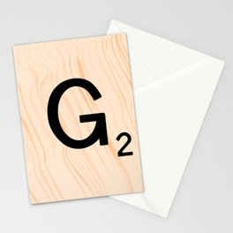 Scrabble Letter G - Scrabble Art and Apparel Stationery Cards