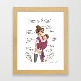 Mommy Artist Framed Art Print