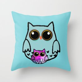 owl-108 Throw Pillow