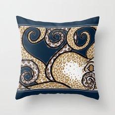 Pulpo de Oro Throw Pillow