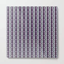 Purple Decorative Pattern Metal Print
