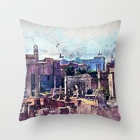 rome Throw Pillows featuring Rome by jbjart