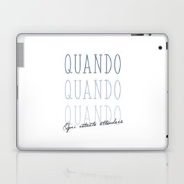 Tell me when will you be mine (N) Laptop & iPad Skin