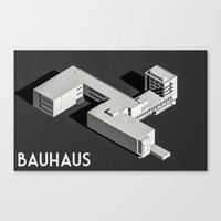 bauhaus Canvas Prints featuring Bauhaus by Max Wittebol