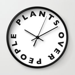Plants Over People Wall Clock