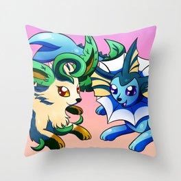 Eevee sisters Throw Pillow