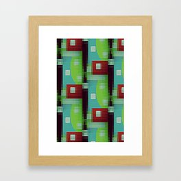 8 Bit Retro Byte mini  Framed Art Print