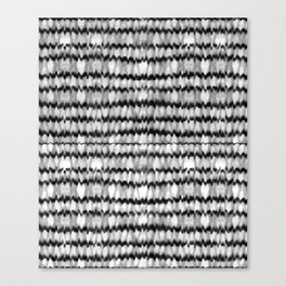 Abstract Wavy Black and White Pattern Canvas Print