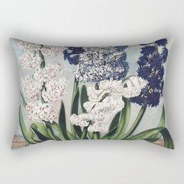 Hyacinths from The Temple of Flora (1807) by Robert John Thornton Rectangular Pillow