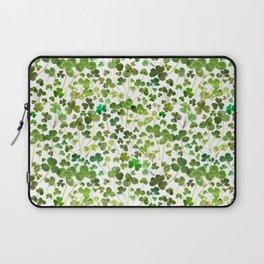 Shamrock and Clover Field Laptop Sleeve