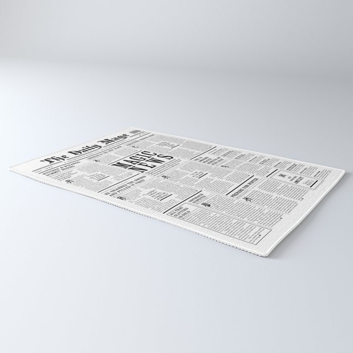 The Daily Mage Fantasy Newspaper Rug