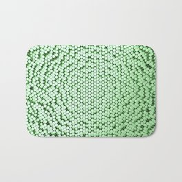 Pattern of green brushed metal cylinders Bath Mat