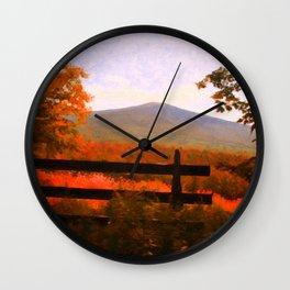Autumn on Monadnock Wall Clock
