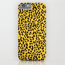 Yellow Cheetah Animal Print iPhone Case