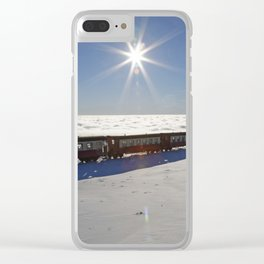 Ride on the clouds Clear iPhone Case