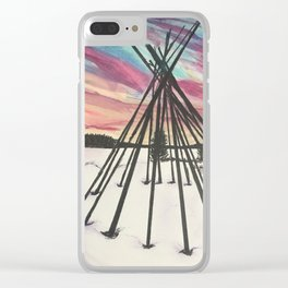 once upon a birthday dusk Clear iPhone Case