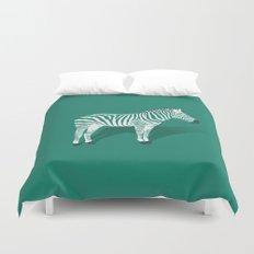 Animal Kingdom: Zebra III Duvet Cover