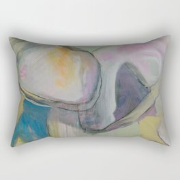 bluepoint oysters abstract painting Rectangular Pillow