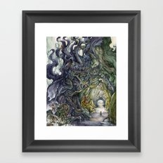 Only They Pronounce My Name Framed Art Print