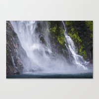 waterfall Canvas Prints featuring Waterfall.. by Michelle McConnell