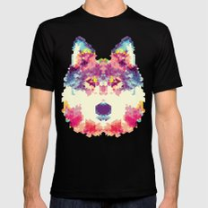 Wolfie Mens Fitted Tee SMALL Black
