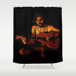 Firelight Vigil Shower Curtain