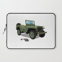 WWII Willys US Army Truck Laptop Sleeve