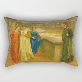 Henry Holiday - Dante And Beatrice Rectangular Pillow