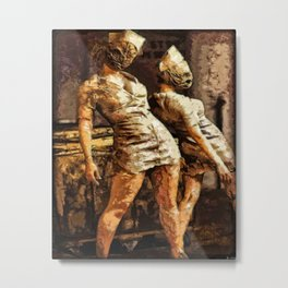 Deadly Duo Silent Hill Nurses Metal Print