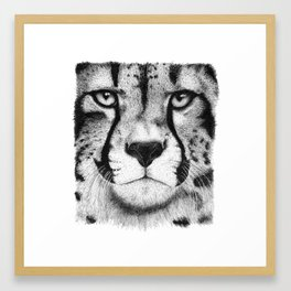 Cheetah face Framed Art Print