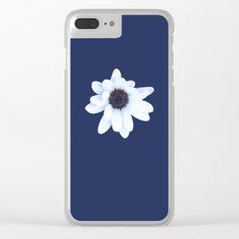 Sleepy African Daisy Flower Clear iPhone Case