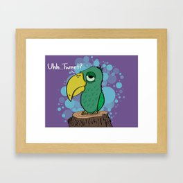 Lazy Bird Framed Art Print