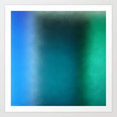 Abstract Square - Blue Green Art Print