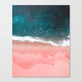 Turquoise Sea Pastel Beach III Canvas Print