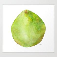 Pear Green Art Print