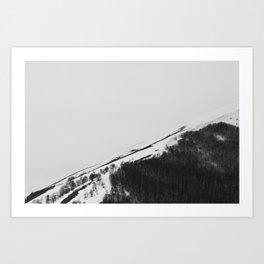 Appennino Lucano - Lines Art Print
