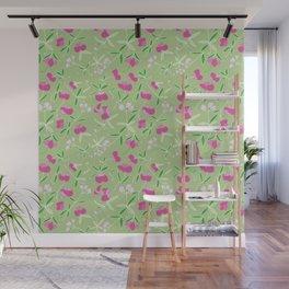 Summer Pink Flower Wall Mural