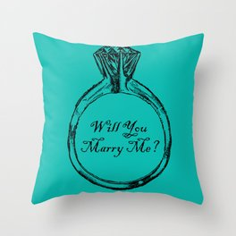 Will You Marry Me Throw Pillow