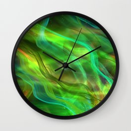 Abstract Shiny Night Lights 21 Wall Clock