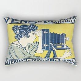 Vintage Camera Poster, 1899 Rectangular Pillow