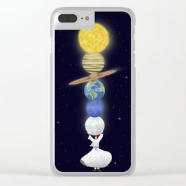 you can carry the world! Clear iPhone Case