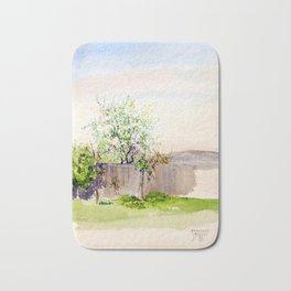 Egon Schiele - Garden with tree (new editing) Bath Mat