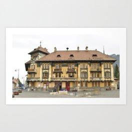 Brasov Union Square building Art Print