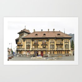 Brasov Union Square building Art Print