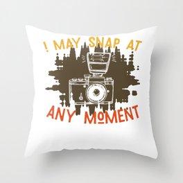 Photographer Camera Photo Throw Pillow