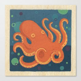 Water Octopus Canvas Print